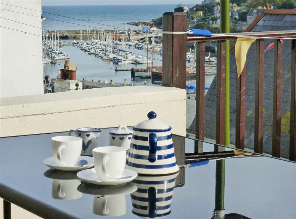 Wonderful south-west facing terrace (photo 2) at Harbour Watch in Brixham, Devon