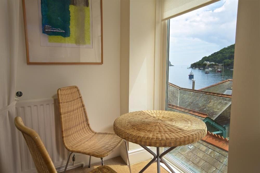 Additional seating with views over the River Dart at Harbourside in South Town, Dartmouth