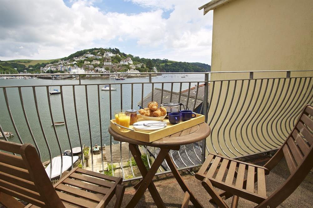 View towards Kingswear from the balcony at Harbourside in South Town, Dartmouth