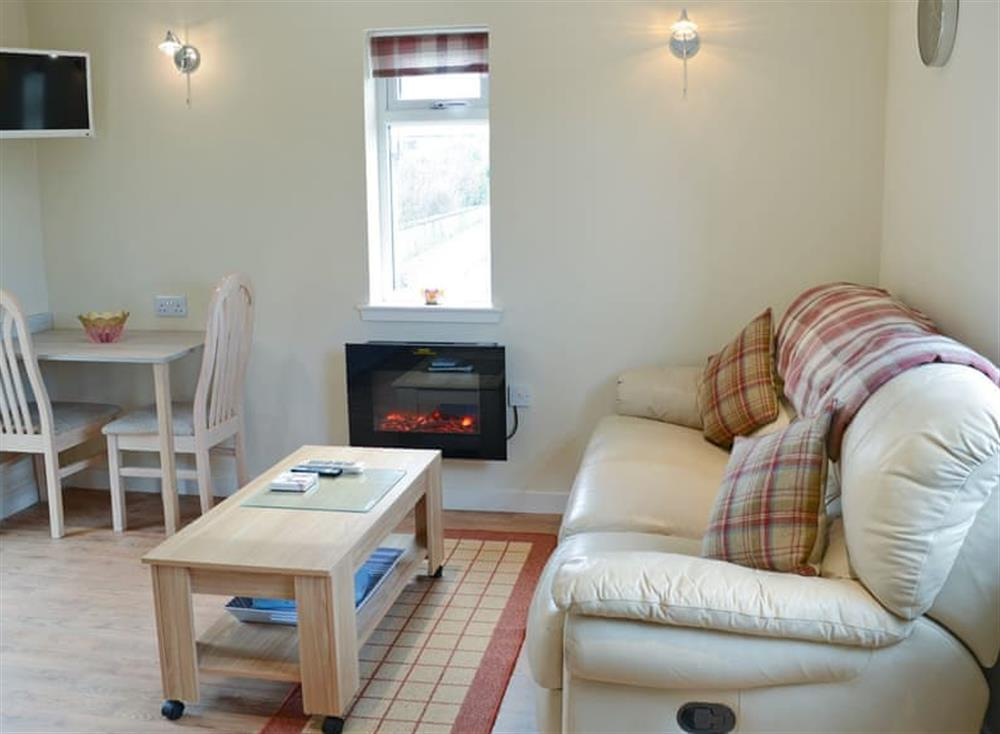 Cosy living area at Harland Cottage in Castletown, near Thurso, Caithness