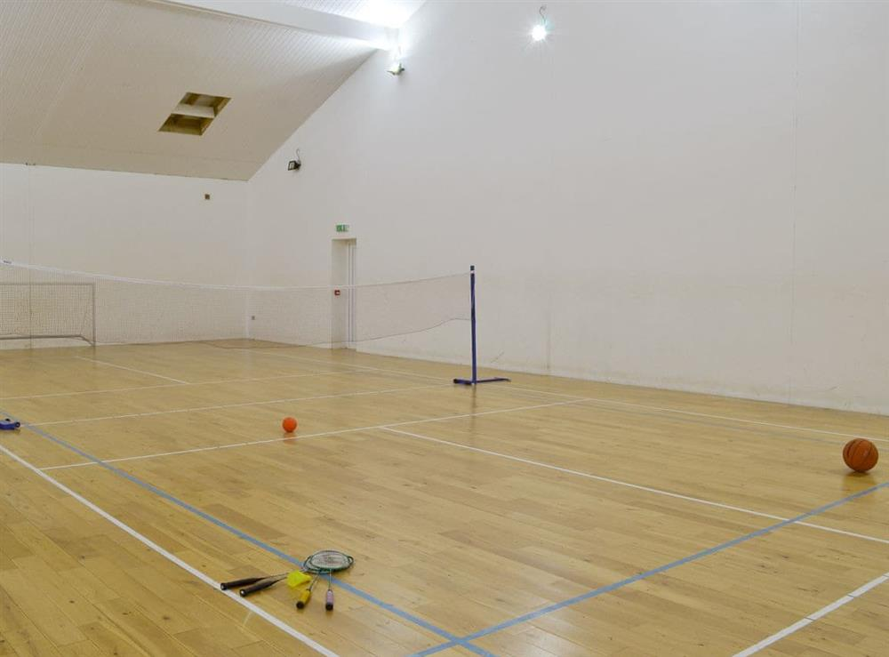 Badminton and volley ball court at Harriss Park in Halwell, Totnes, Devon