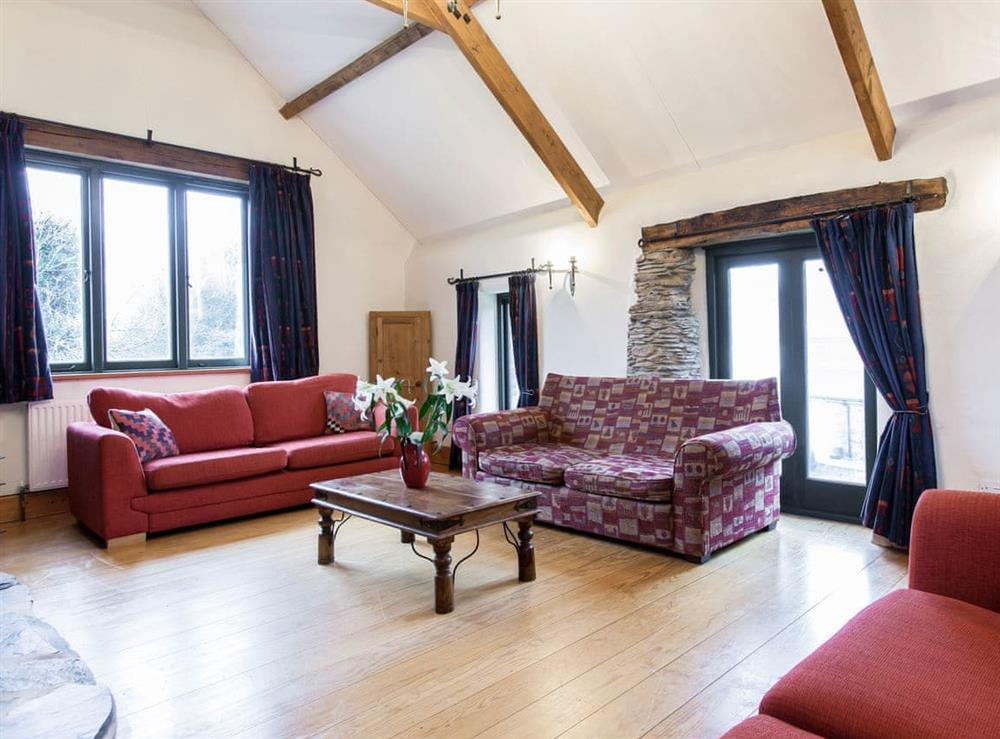Light and airy living area (photo 2) at Harriss Park in Halwell, Totnes, Devon