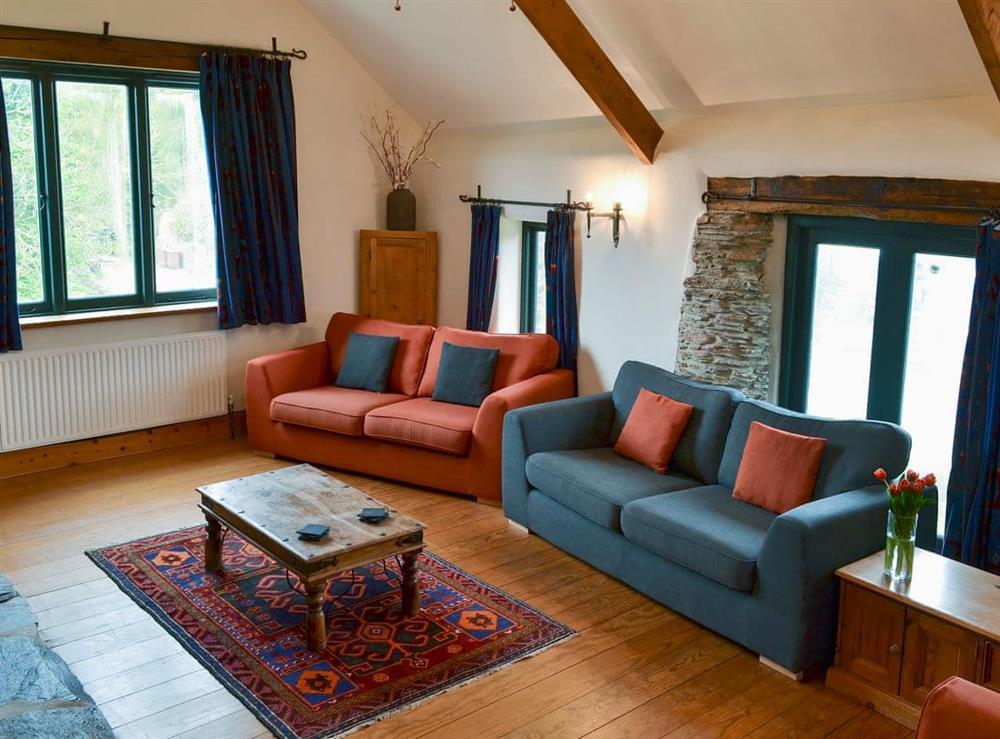 Light and airy living area (photo 3) at Harriss Park in Halwell, Totnes, Devon