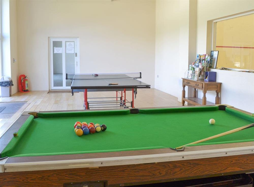 Light and airy recreation area with pool table and table tennis at Harriss Park in Halwell, Totnes, Devon