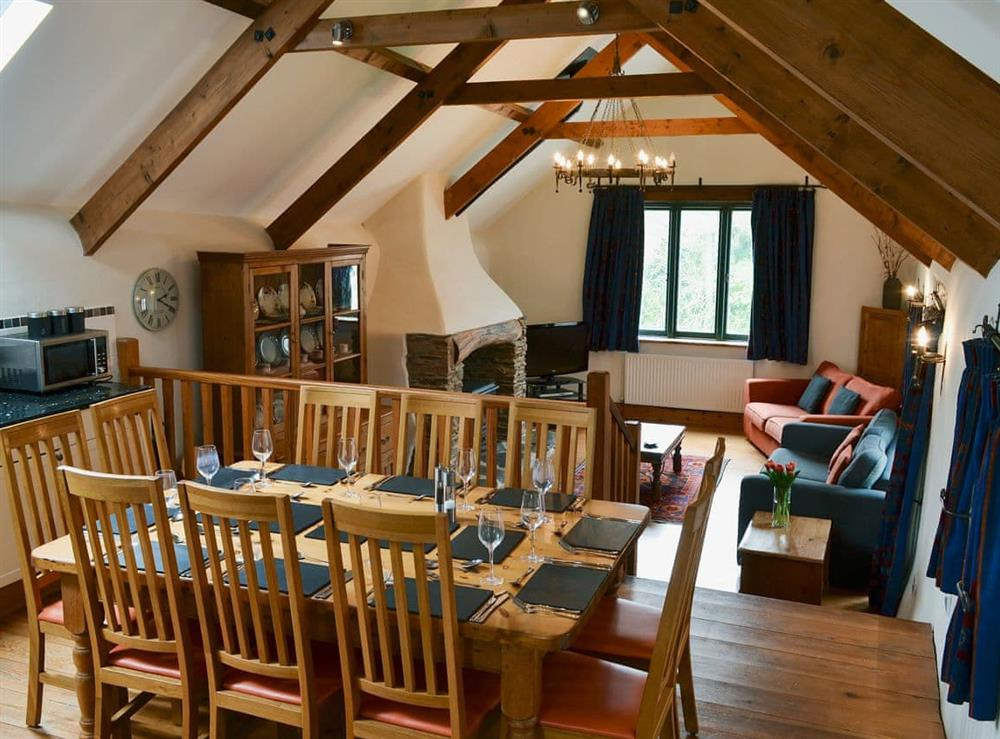 Spacious kitchen/dining area at Harriss Park in Halwell, Totnes, Devon