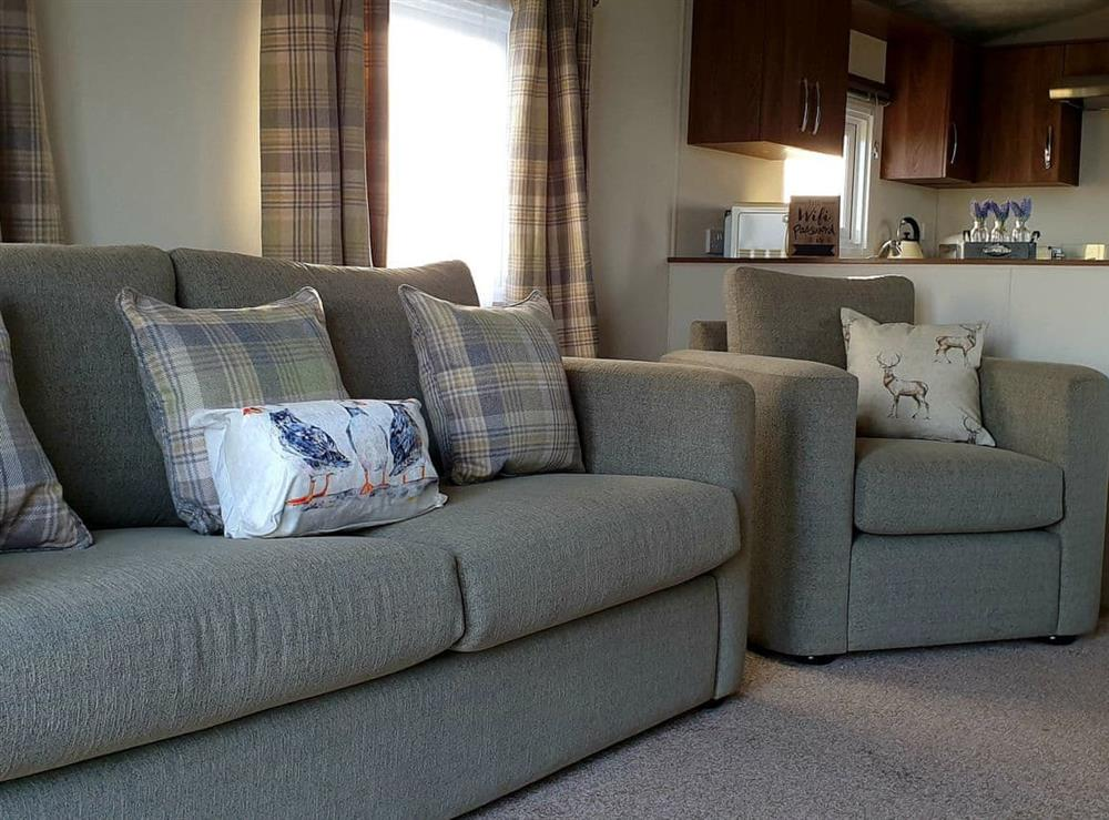 Convenient open-plan living space at Harrow Lodge in Mey, near Thurso, Caithness