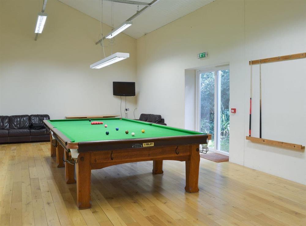 Full size snooker table at Harvest Cottage in Harbertonford, near Totnes, Devon