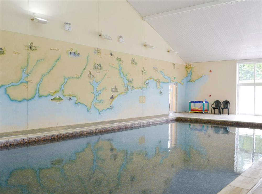 Luxurious shared indoor swimming pool at Harvest Cottage in Harbertonford, near Totnes, Devon