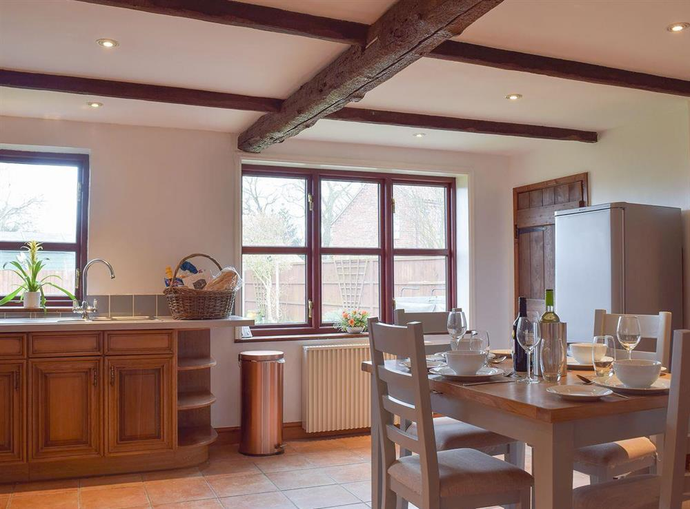 Light, airy and spacious kitchen diner at Heathcote Cottage in Hickling, near Wroxham, Norfolk