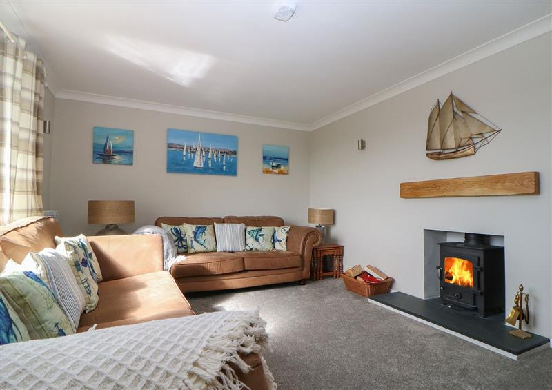 The living room at Hedgerow, Blackawton