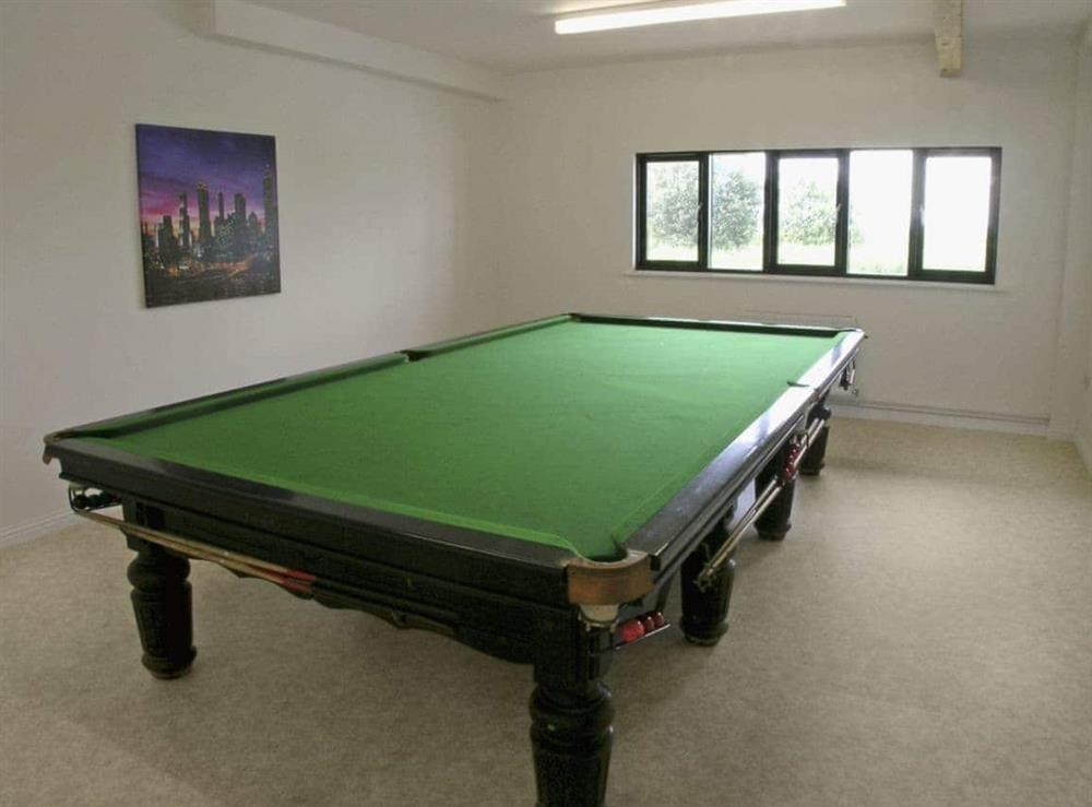 Games room at Heigham View in Martham, Norfolk., Great Britain
