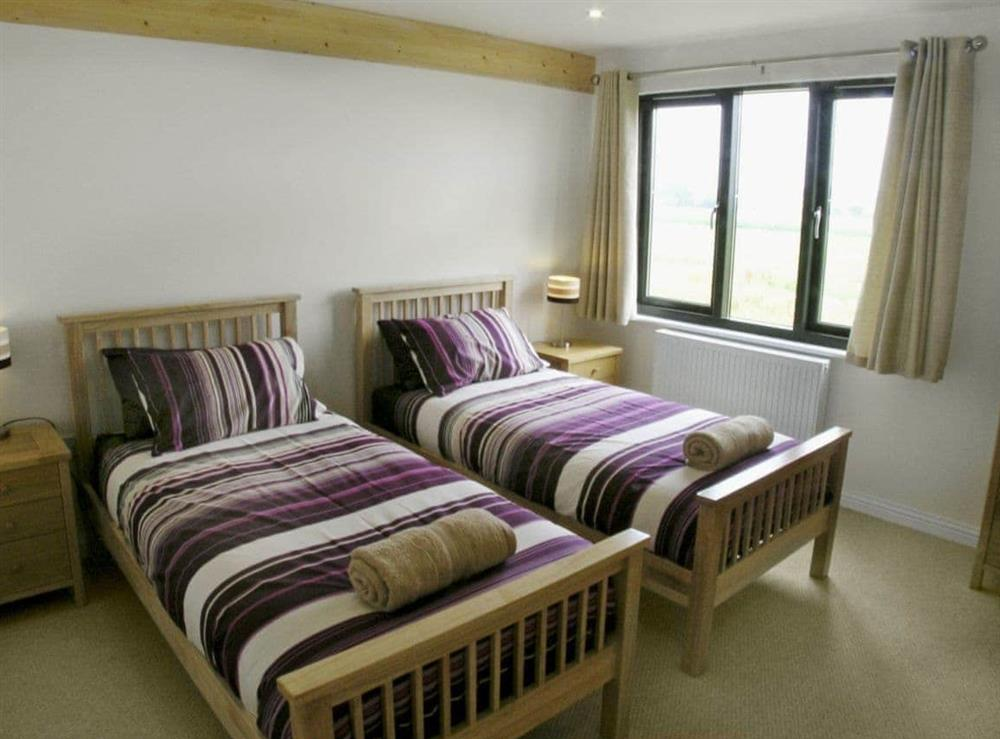 Twin bedroom at Heigham View in Martham, Norfolk., Great Britain