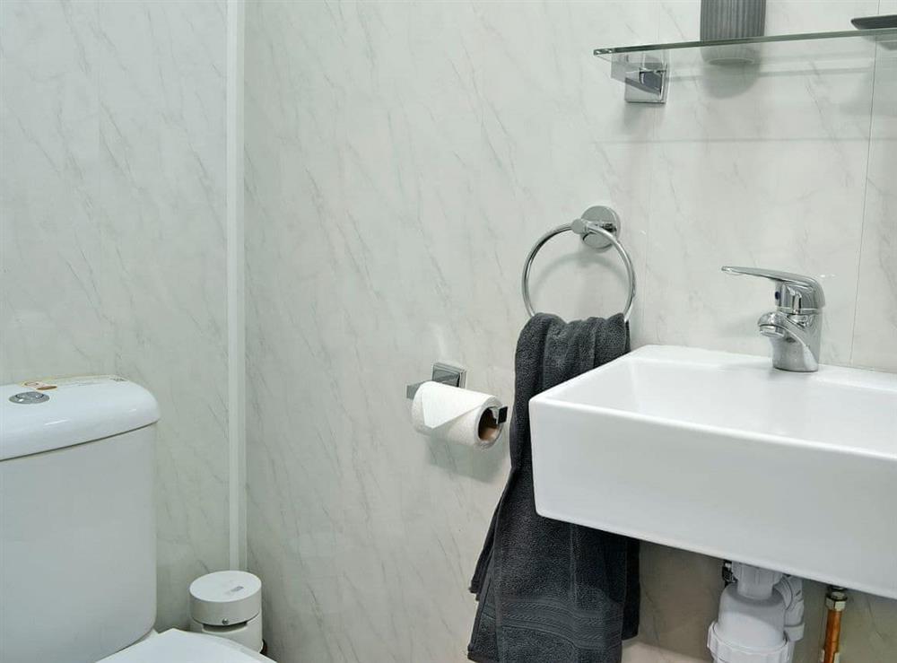 En-suite shower room at Hidden Gem Cottage in Driffield, North Humberside