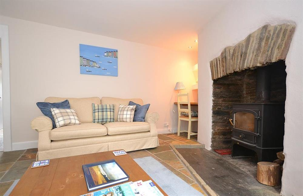 The cosy lounge at Hideaway, Harbertonford