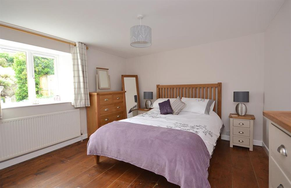 The spacious double bedroom at Hideaway, Harbertonford