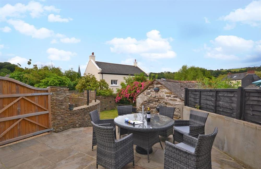 Welcome to Hideaway. Enjoy its sunny terrace, perfect for al fresco dining at Hideaway, Harbertonford
