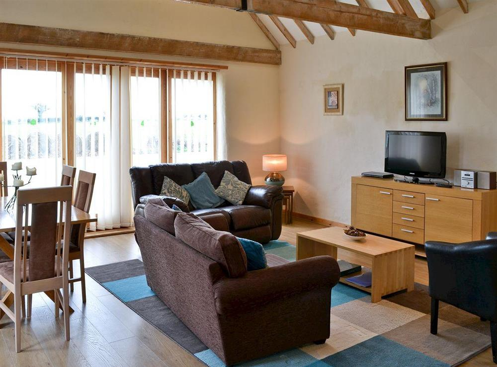 Open plan Living dining room at High Barn in Langley, Norwich, Norfolk., Great Britain