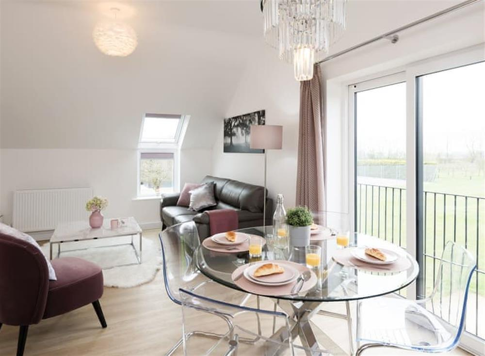 Dining area with wonderful far reaching views at Unit 1,