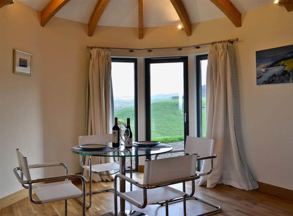 Dining room at High Trodigal in Machrihanish, near Campbeltown, Argyll