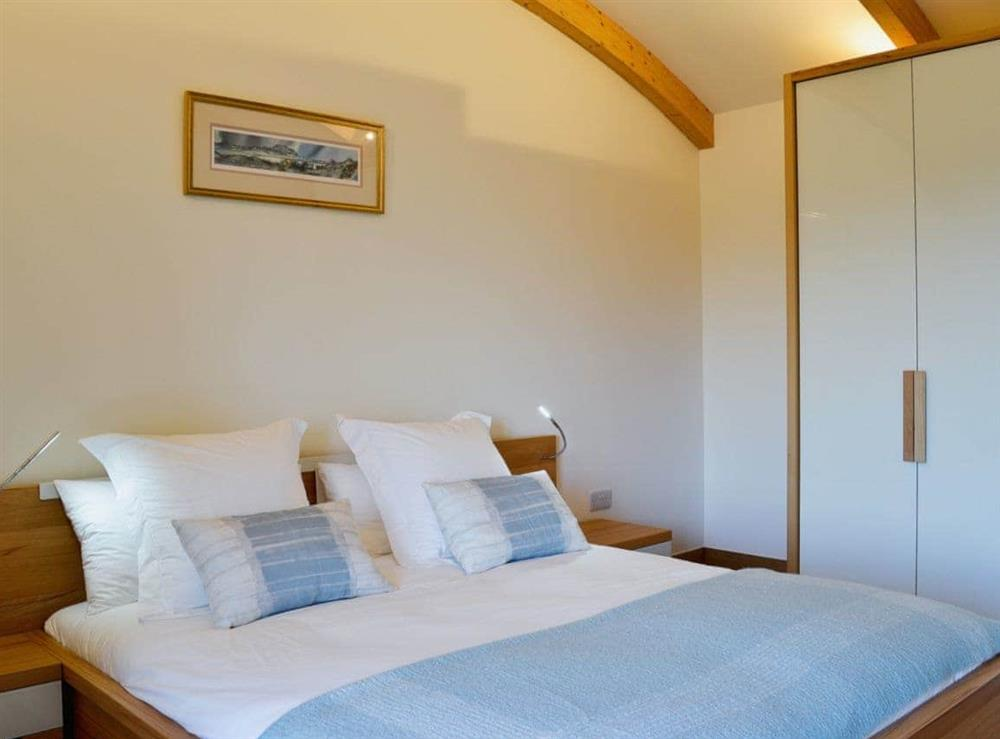 Double bedroom at High Trodigal in Machrihanish, near Campbeltown, Argyll