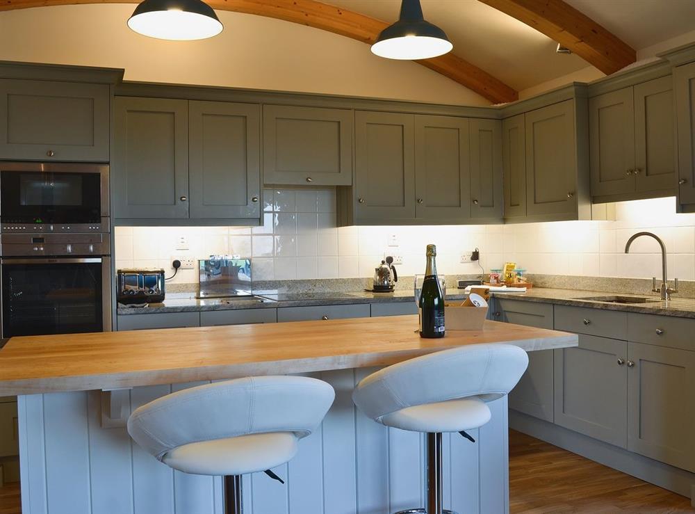 Kitchen at High Trodigal in Machrihanish, near Campbeltown, Argyll