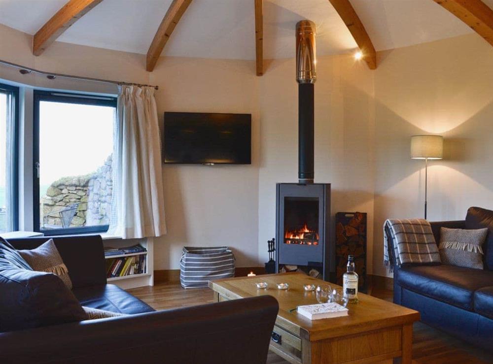 Living room at High Trodigal in Machrihanish, near Campbeltown, Argyll