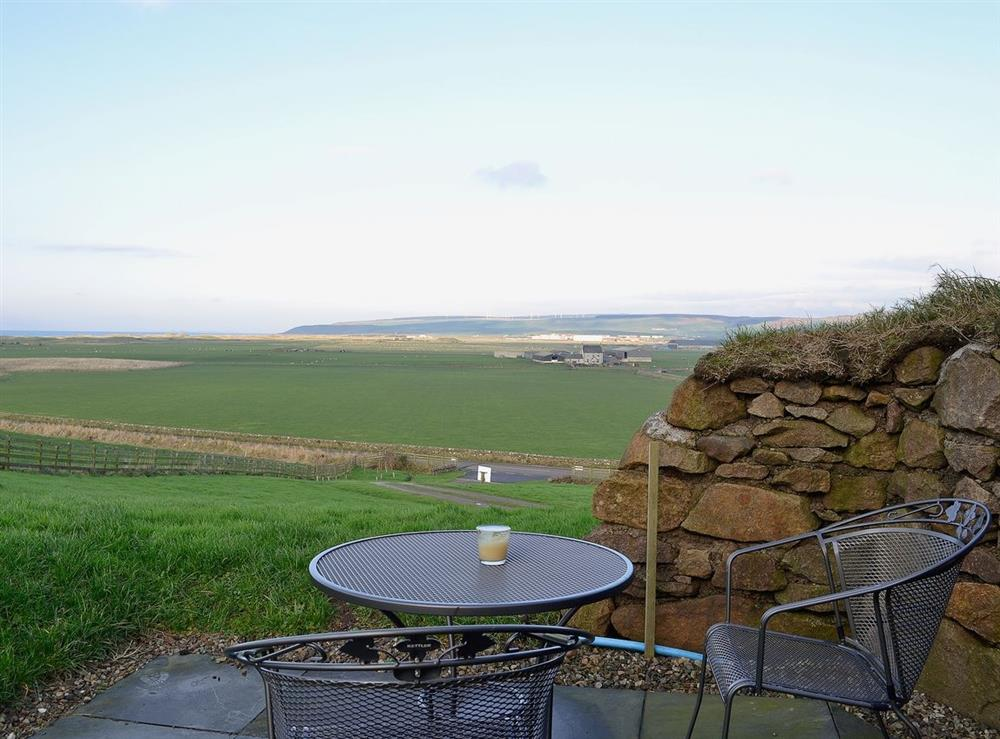Sitting-out-area at High Trodigal in Machrihanish, near Campbeltown, Argyll
