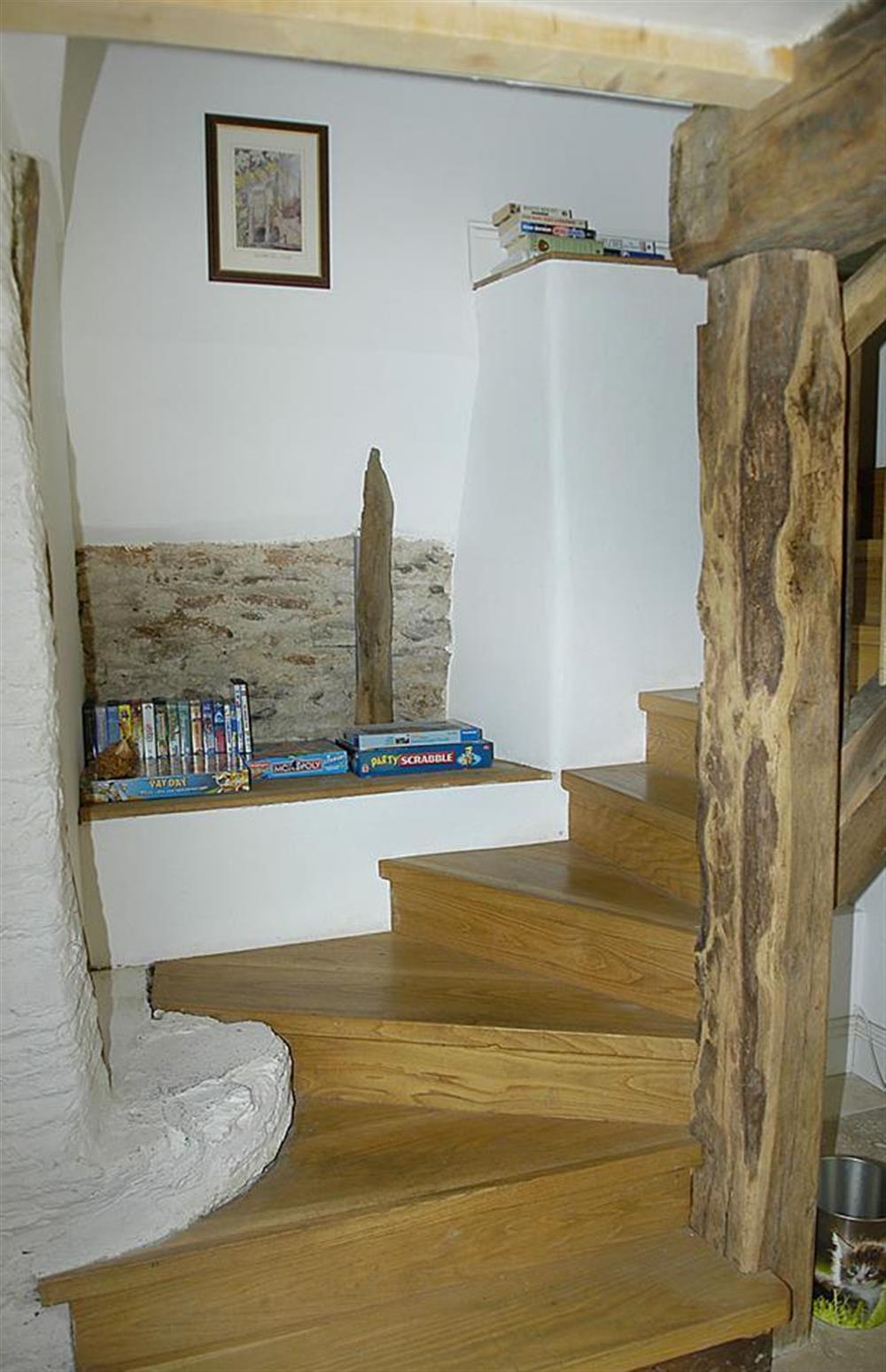 Stairs at Higher Cotterbury Cottage, Blackawton