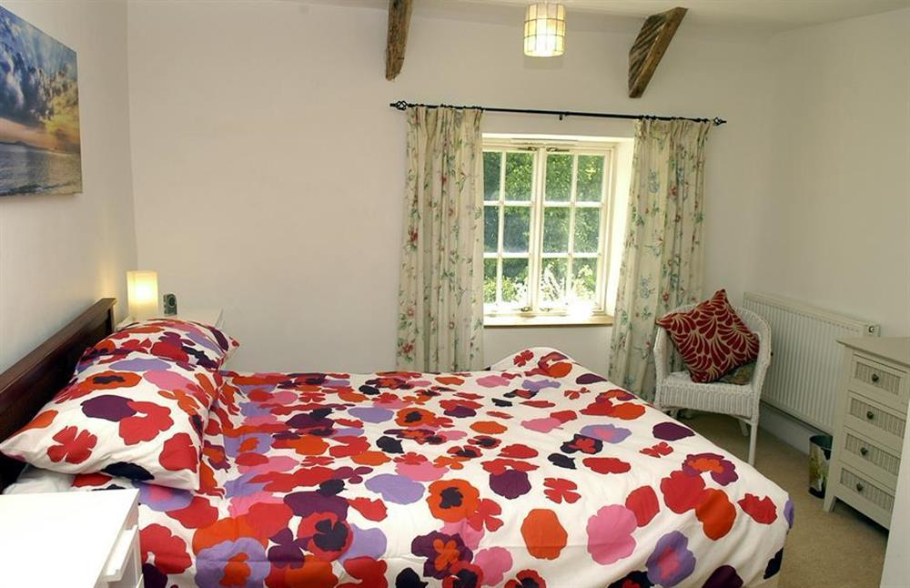The double bedroom at Higher Cotterbury Cottage, Blackawton