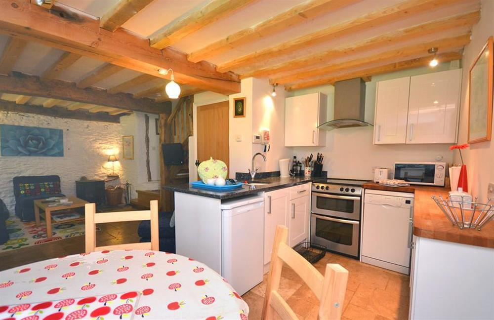 The kitchen at Higher Cotterbury Cottage, Blackawton