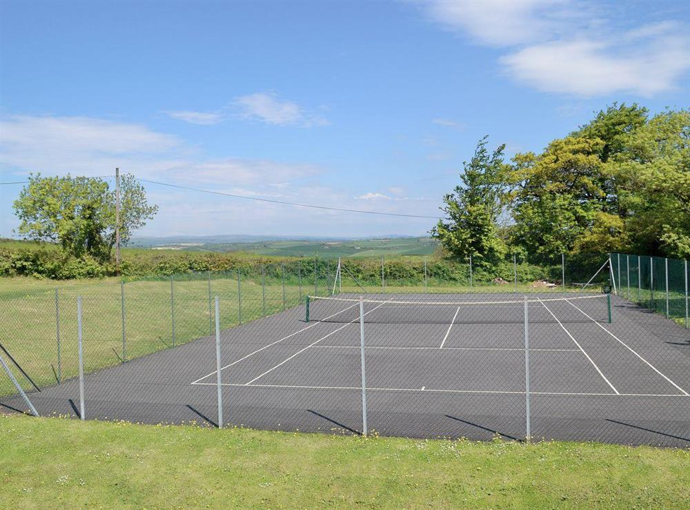 Tennis court at Wisteria House,