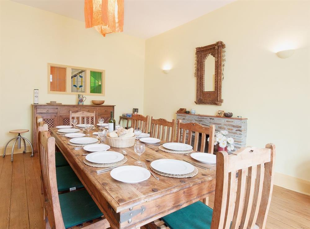 Dining room at Higher Venice in Allaleigh, near Cornworthy, Devon