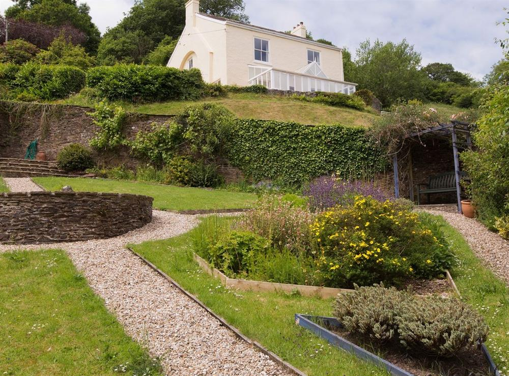 Garden and grounds at Higher Venice in Allaleigh, near Cornworthy, Devon