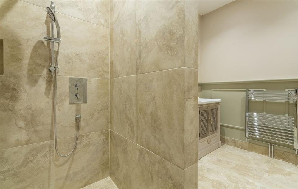 The Owl House ground floor: En-suite with luxury walk-in shower, hand basin, WC and heated hand rail