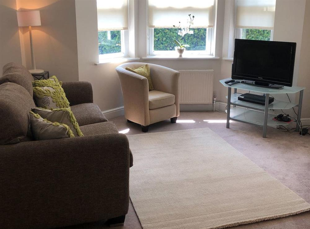 Living room at Hill Rise Apartment in Leatherhead, Surrey