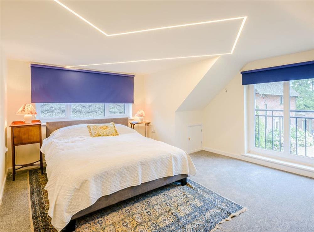 Double bedroom at Hilley Holey in Woodbastwick, near Norwich, Norfolk
