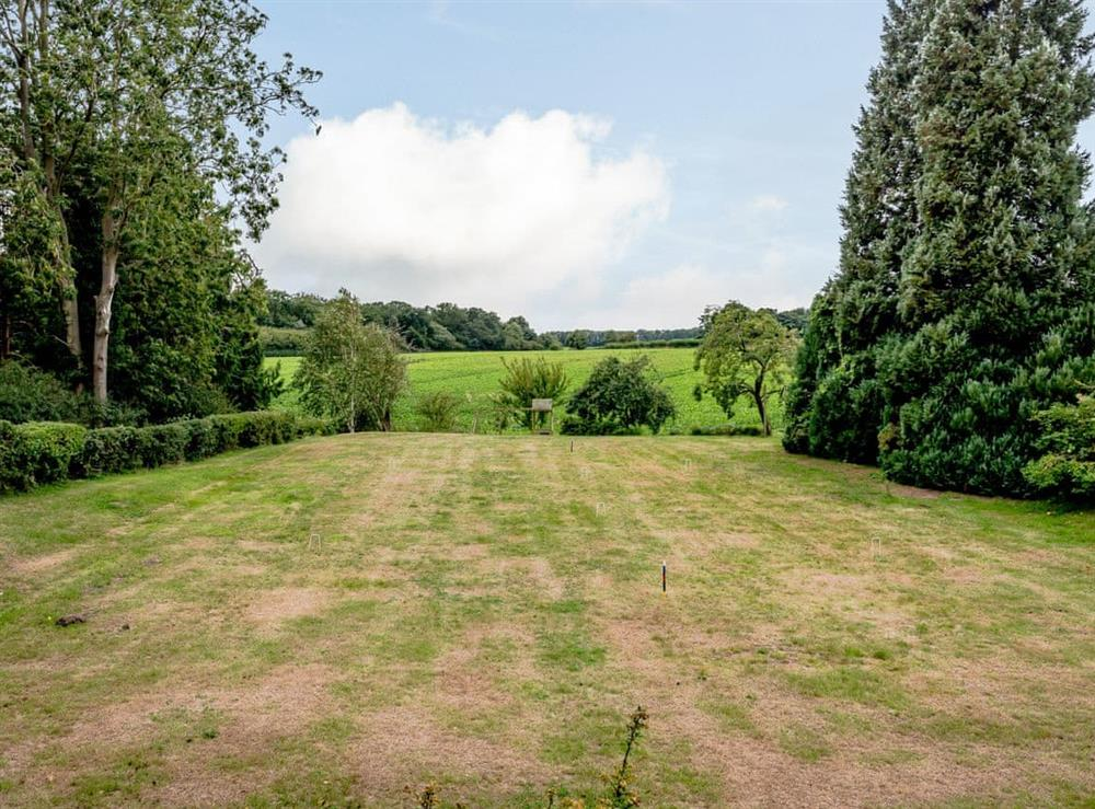 Garden at Hilley Holey in Woodbastwick, near Norwich, Norfolk