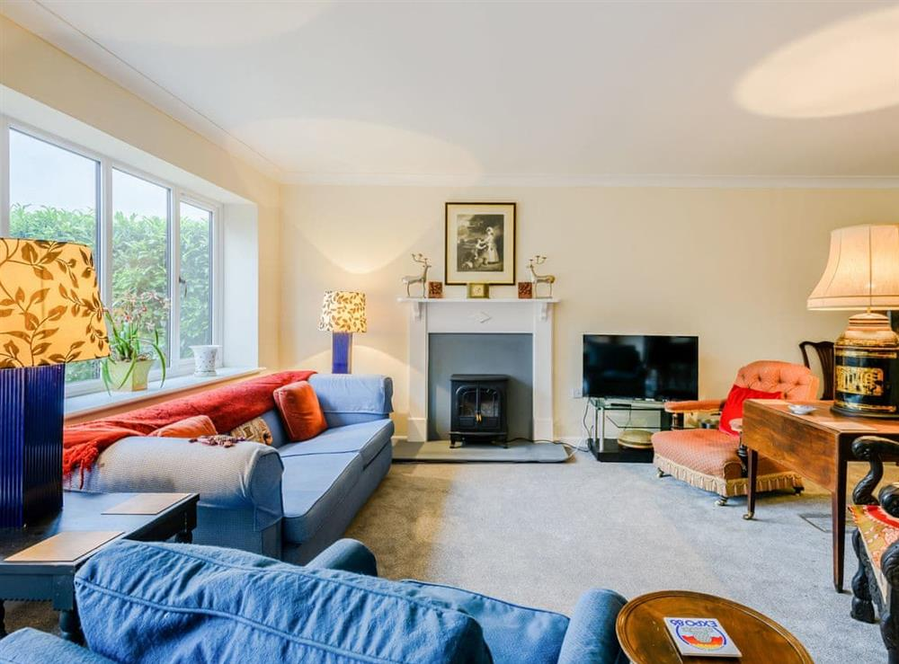 Living room at Hilley Holey in Woodbastwick, near Norwich, Norfolk