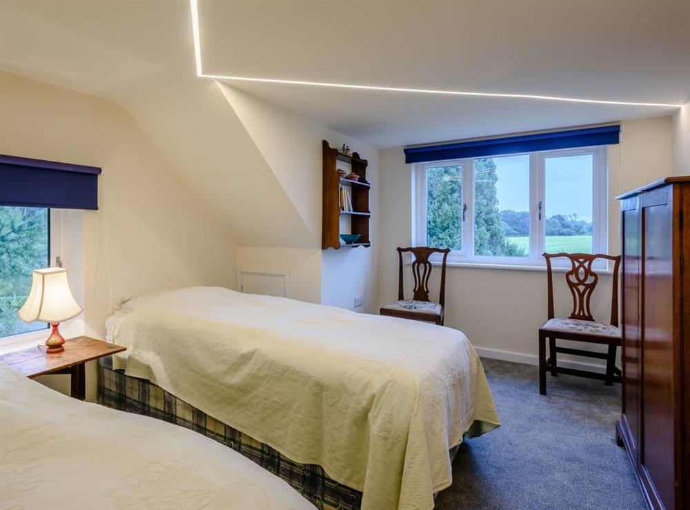 Twin bedroom at Hilley Holey in Woodbastwick, near Norwich, Norfolk