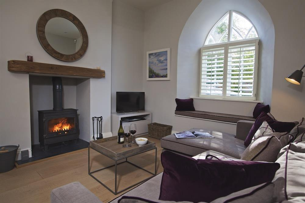 Cosy snug also with wood-burning stove at Hillfield Farmhouse in , Hillfield, Dartmouth