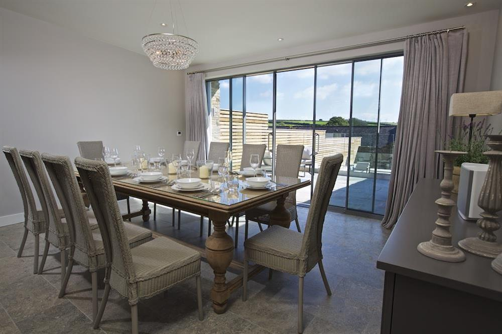 Dining area seating ten comfortably (photo 2) at Hillfield Farmhouse in , Hillfield, Dartmouth
