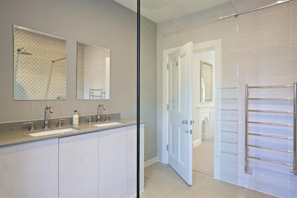 En suite with walk in/out shower (photo 2) at Hillfield Farmhouse in , Hillfield, Dartmouth