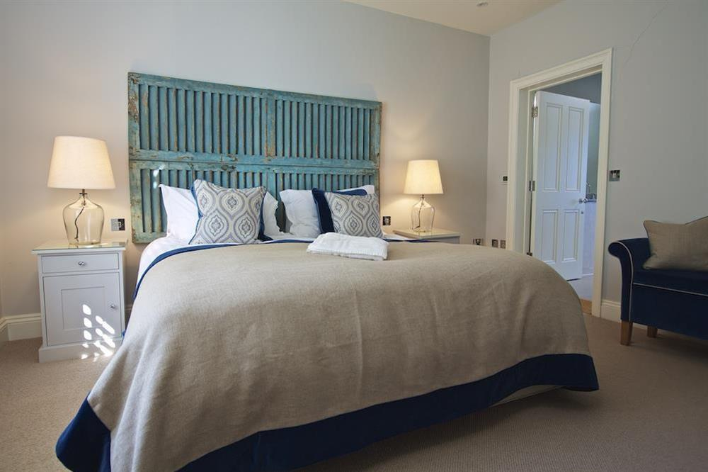 Second en suite bedroom with super-King size bed at Hillfield Farmhouse in , Hillfield, Dartmouth