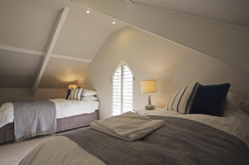 Second twin bedroom on the top floor at Hillfield Farmhouse in , Hillfield, Dartmouth