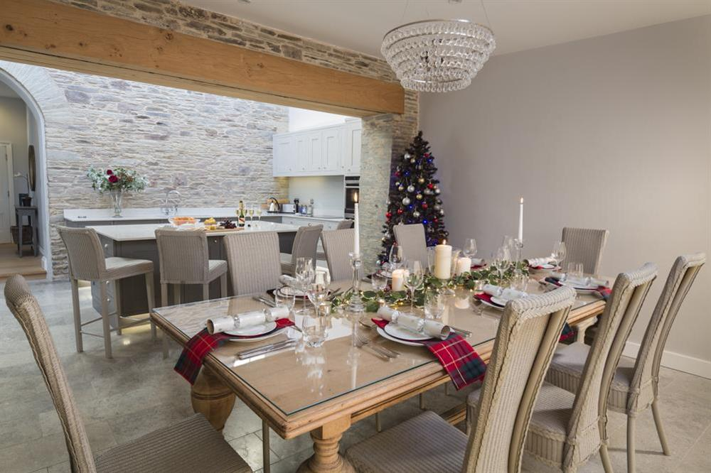 Spacious dining area, ideal for a Christmas celebration at Hillfield Farmhouse in , Hillfield, Dartmouth