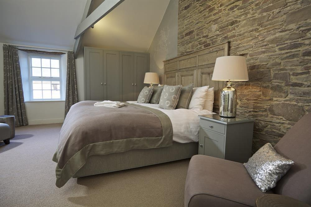 Sumptuous en suite master bedroom at Hillfield Farmhouse in , Hillfield, Dartmouth
