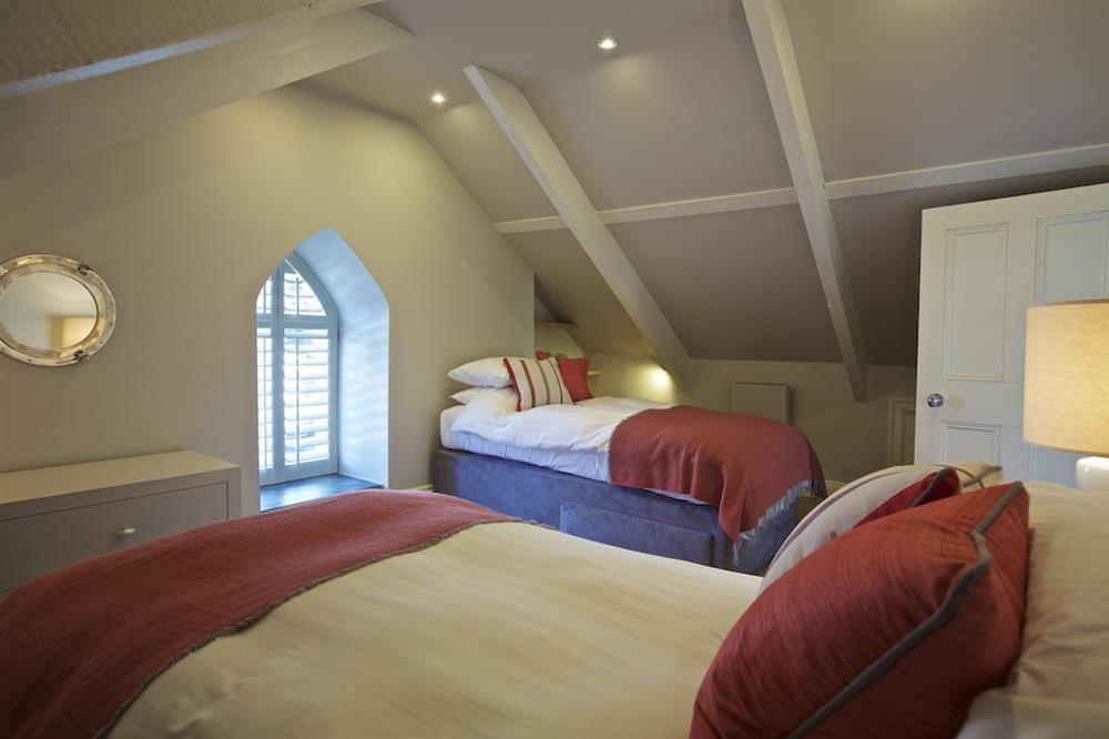Twin bedroom at second floor level at Hillfield Farmhouse in , Hillfield, Dartmouth