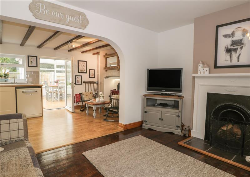 The living area at Hilltop Cottage, Seaton