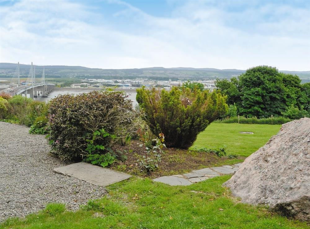 Garden at HillView House in North Kessock, near Inverness, Inverness-Shire
