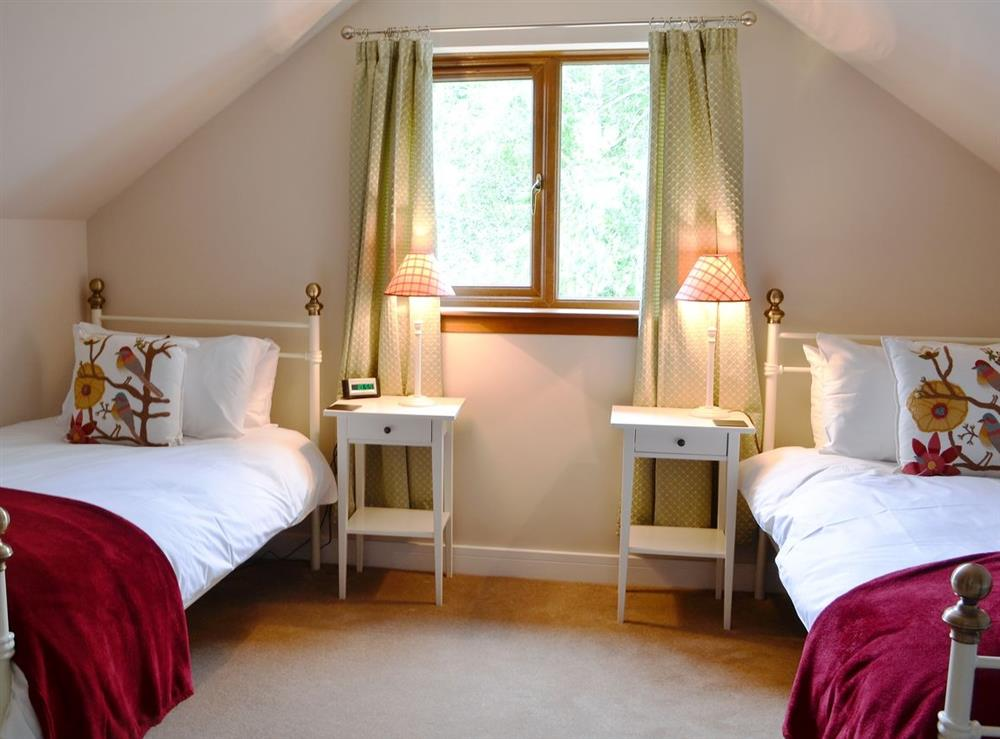 Twin bedroom at HillView House in North Kessock, near Inverness, Inverness-Shire